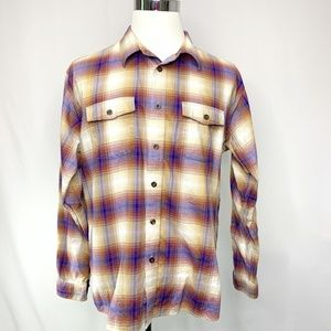Patagonia Buckshot Plaid Button Front Shirt Size L
